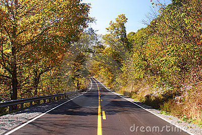 Fall Highway Scene