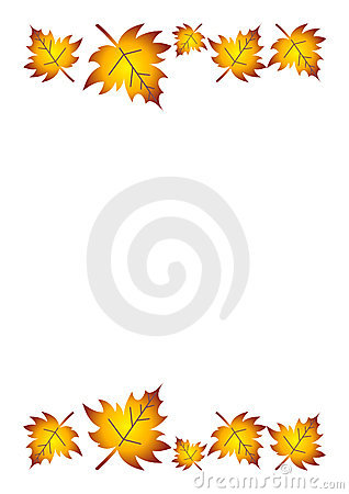 Free Fall Leaves Border Royalty Free Stock Photography - 11020247
