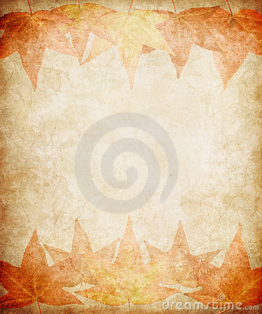 Free Fall Leaves On Grunge Paper Stock Photos - 20597543