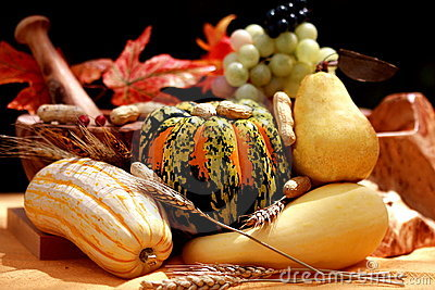 Fall pears and pumpkins