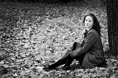 Fall portret BW