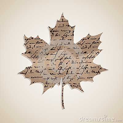 Fall season Autumn maple leaf with writings background EPS10 fil
