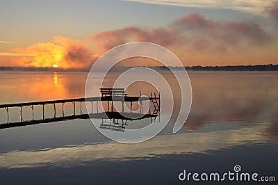 Fall Sunrise - Wisconsin lake