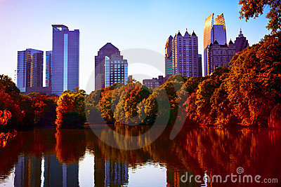 Fall sunset in midtown Atlanta, GA