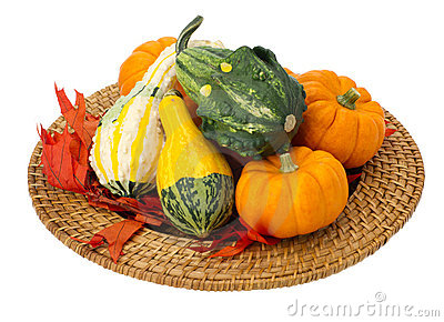 Fall Thanksgiving Halloecoration isolated on white