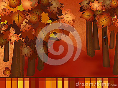 Fall woodsy Background