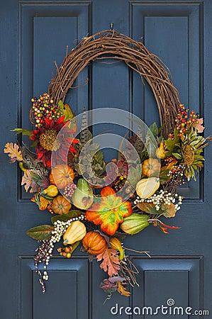 Free Fall Wreath Stock Photos - 6776763