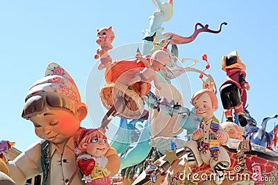 Fallas Valencia papier mache popular fest figures