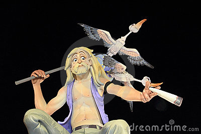 Fallas Valencia papier mache popular fest figures Editorial Photography