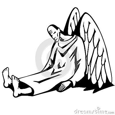 Free Fallen Angel. Stock Photography - 68283932