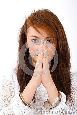 Free Fallen Angel Praying Royalty Free Stock Images - 1420439