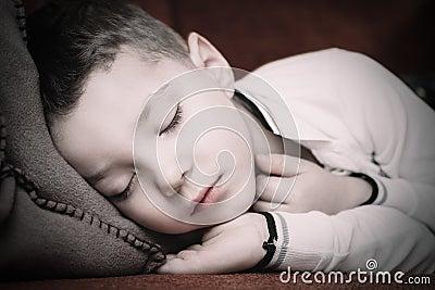 Fallen asleep on a comfortable sofa