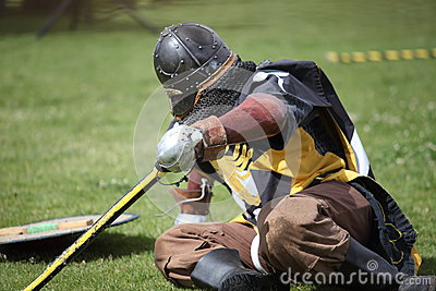 Fallen Celtic Knight Editorial Stock Photo