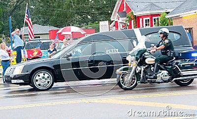 Fallen Marine Returns Home Editorial Image