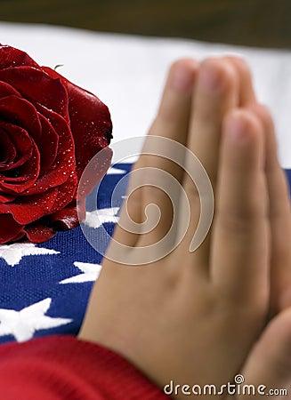 Free Fallen Prayer Stock Photography - 1491162