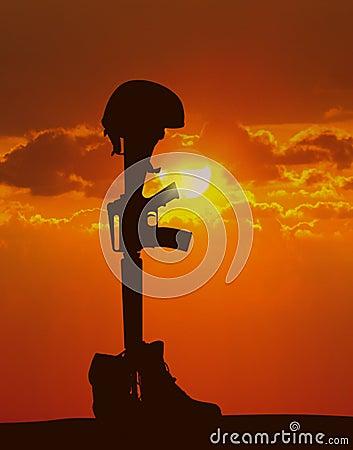 Free Fallen Soldier Stock Image - 24831991