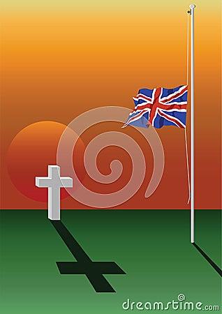 Fallen soldier grave