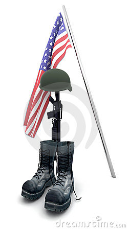 Free Fallen Soldier Tribute Stock Photography - 9845962