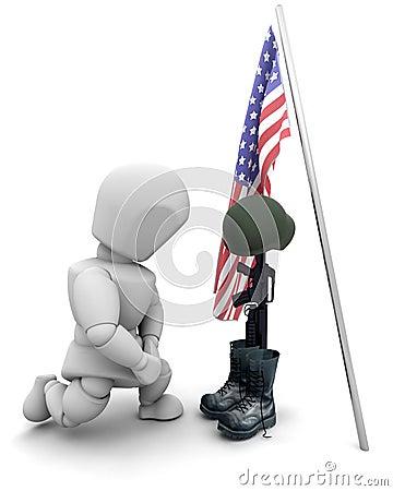 Fallen soldier tribute