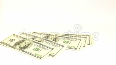 Fallende geld- Dollar stock footage