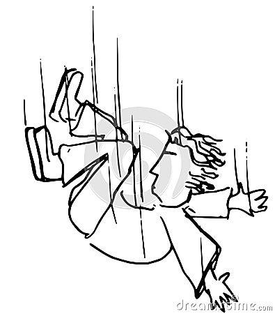 Boy falling