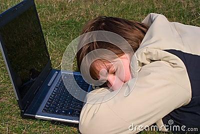 Falling asleep young girl