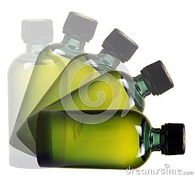 Falling bottle
