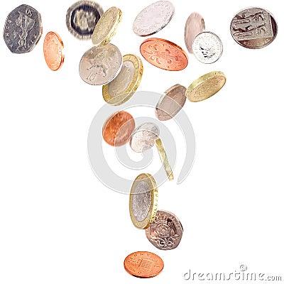 Falling British Coins