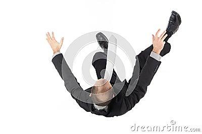 Falling, businessman