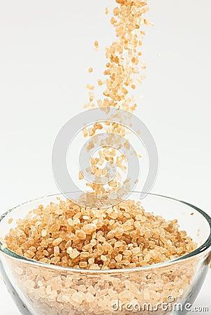 Free Falling Cane Sugar Stock Photos - 14260543