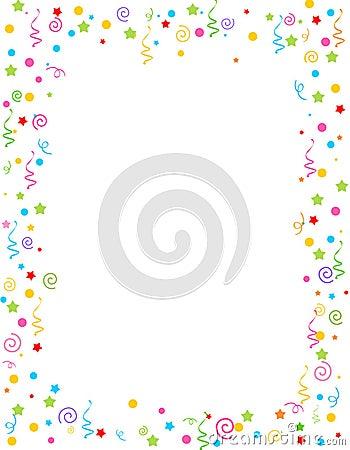 Free Falling Confetti Border Royalty Free Stock Image - 17149446