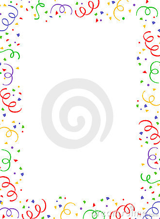 Falling Confetti Border Royalty Free Stock Photos Image