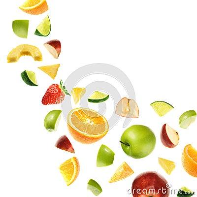 Free Falling Fruits Royalty Free Stock Photos - 9208338