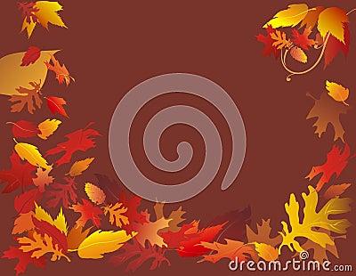 Falling Leaves on Brown