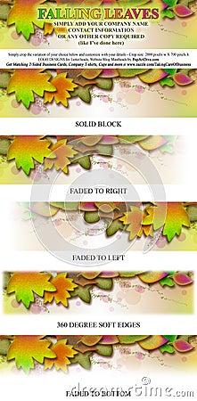 Falling Leaves Logo Masthead Banner