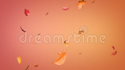 Falling leaves loopable Stock Photo