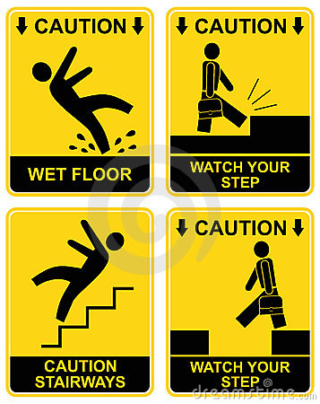 Free Falling Man - Caution Sign Stock Photos - 13356303