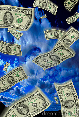 Free Falling Money Stock Photography - 213372
