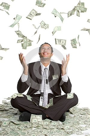 Free Falling Money Man Royalty Free Stock Photos - 4031728