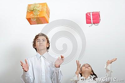 Falling presents