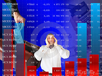 Falling of quoted indexes