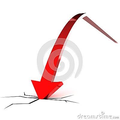 Falling Red Arrow
