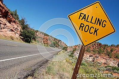 Falling Rock Sign