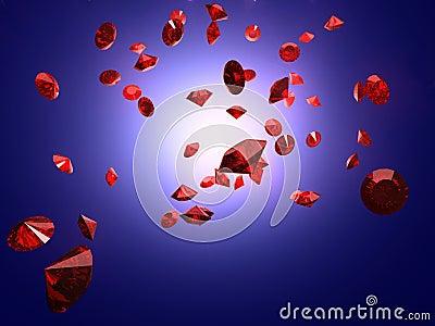 Falling ruby