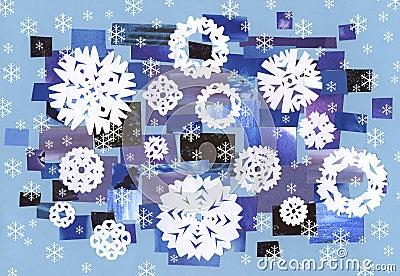 Falling snow - artwork