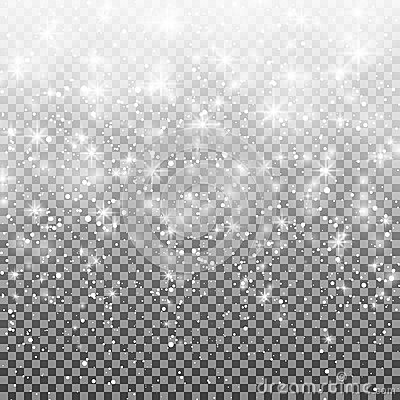 Free Falling Snow On A Transparent Background. Vector Illustration 10 EPS. Abstract White Glitter Snowflake Background Royalty Free Stock Images - 82811319