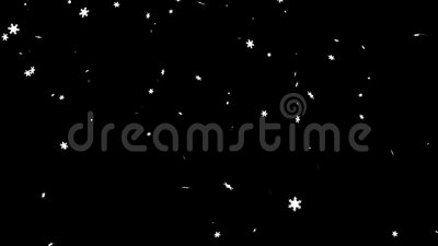 Falling snowflakes on a black background stock video