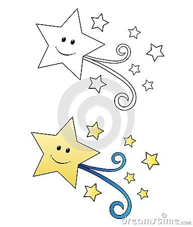 Falling star cartoon