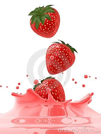 Free Falling Strawberries Stock Photography - 4129502