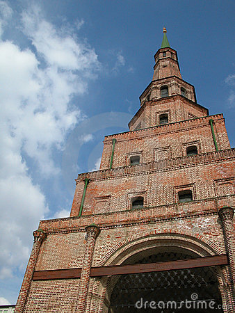 Free Falling Tower Suumbike. Minaret Of An Ancient Mosque. Pic1 Stock Image - 738921